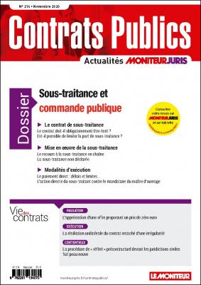 Contrats publics 214 - Novembre 2020