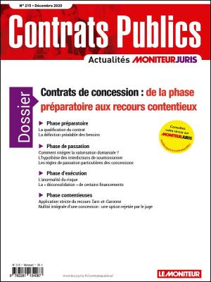 Contrats publics 215 - Décembre 2020