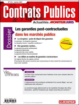 Contrats publics 216 - Janvier 2021