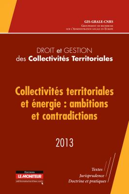 Droit et gestion des collectivités territoriales – 2013