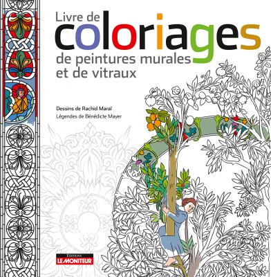 Livre de coloriages de la galerie des peintures et des vitraux