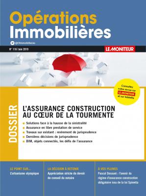 Operations Immobilières - Assurance Construction